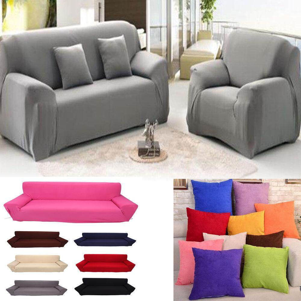 Stretch Chaise Sofa Cover Elasticity Flexible Living Room