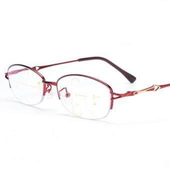 KCASA Progressive Multifocus Reading Glasses Asymptotic Multifocal Metal Computer Glass 4500 +100