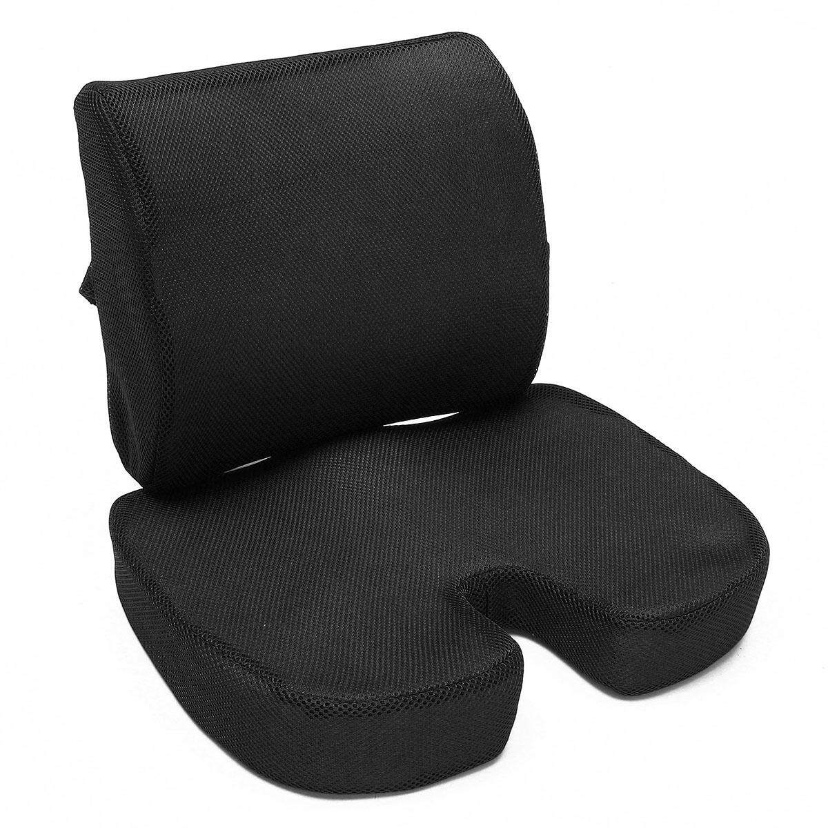 Orthopedic Seat Cushion Bundle – Tailbone & Lumbar Support For Office Chairblack By Glimmer.