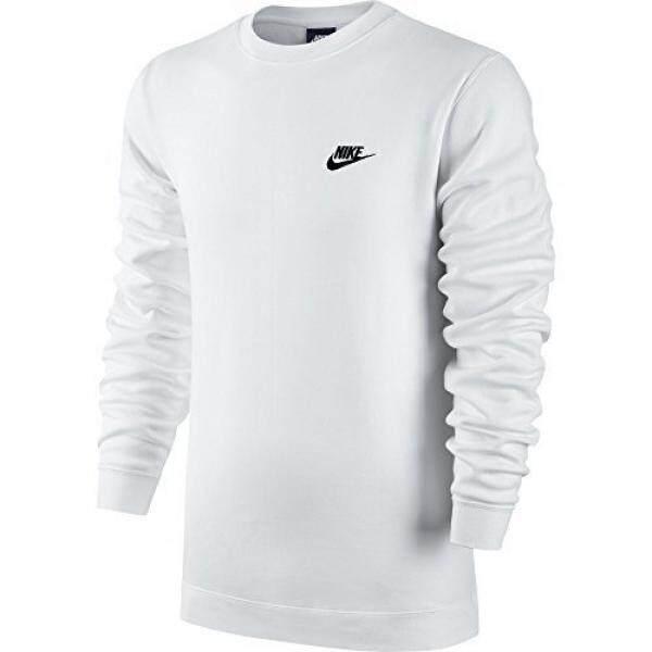 quality design c8c48 4cd3c Nike Mens Sportswer Crew Fleece Club Sweatshirt White Black 804340-ize -  intl