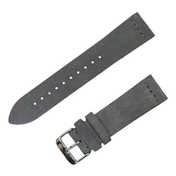 Benchmark Straps 22 Mm Suede Tali Jam Di Slate Gray-Internasional