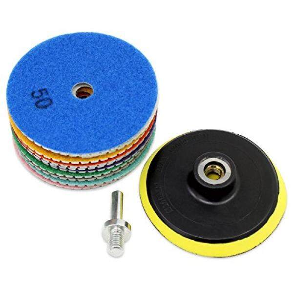 OCR Diamond Polishing Pad 4Inch Wet Polishing Wheel Set for Granite Concrete Stone Ceramic (4inch-11pcs) - intl