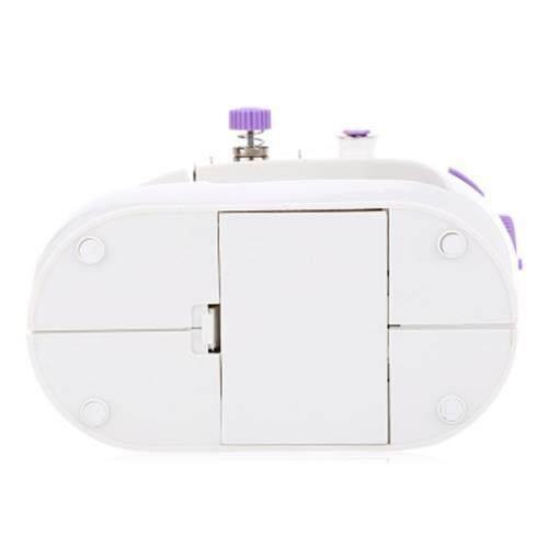 MINI SEWING MACHINE DOUBLE SPEED AUTOMATIC THREAD WITH LIGHT (PURPLE)