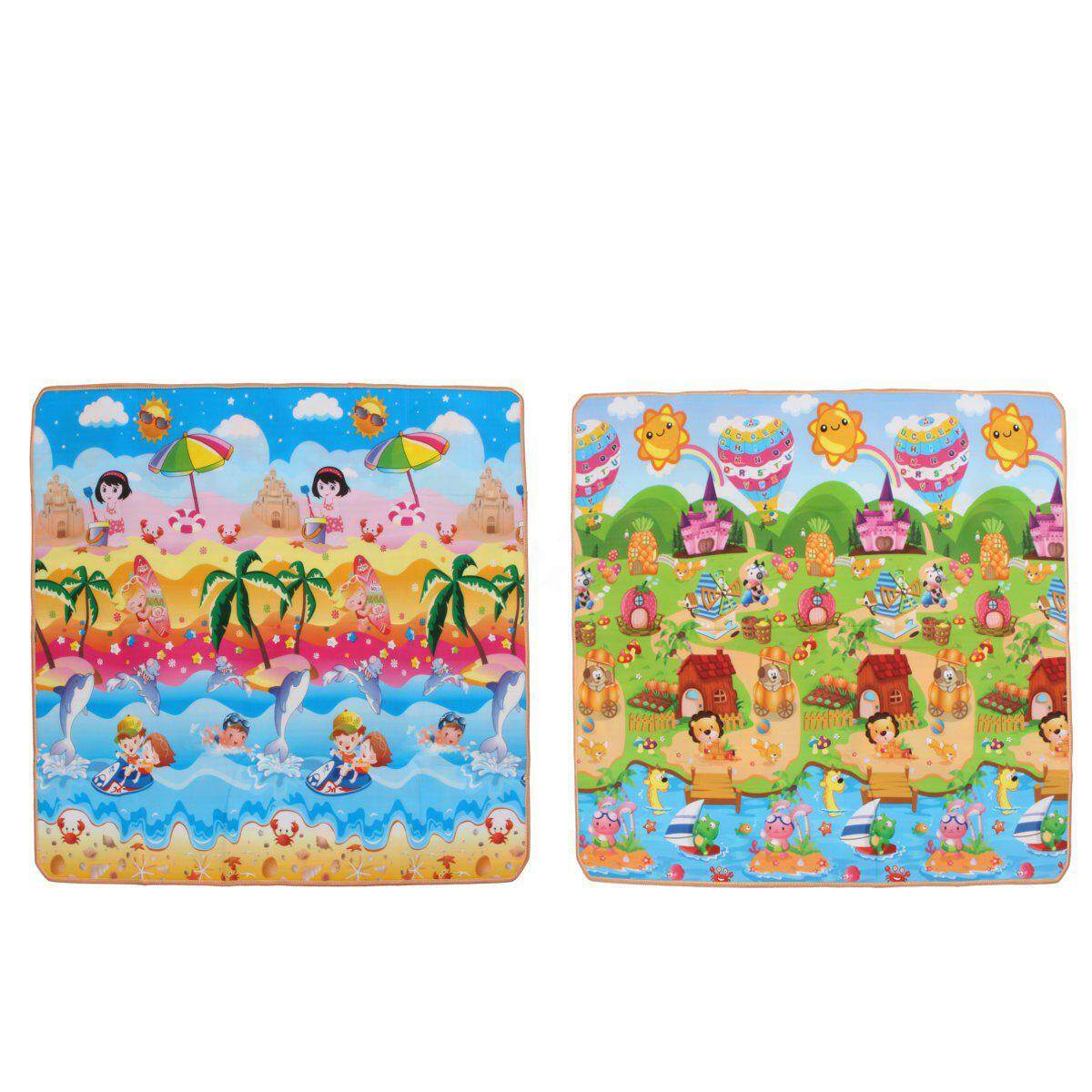10mm 2mx1.8m Thick Xl Baby Kids Play Mat Floor Rug Picnic Cushion Crawling Mat By Glimmer.