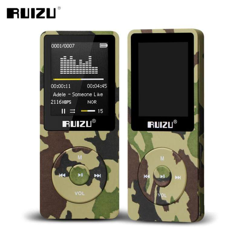 Ruizu X02 8GB 1.8 Inch Screen HIFI FM Alarm Clock MP3 Music Player