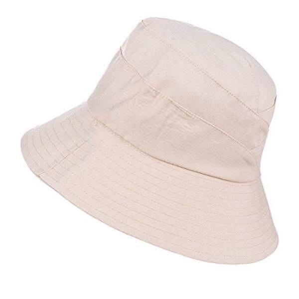 Huamulan Wanita Topi Pantai Kapas Ember Kasual Boni Musim Panas UPF 50 b58d8c23ee