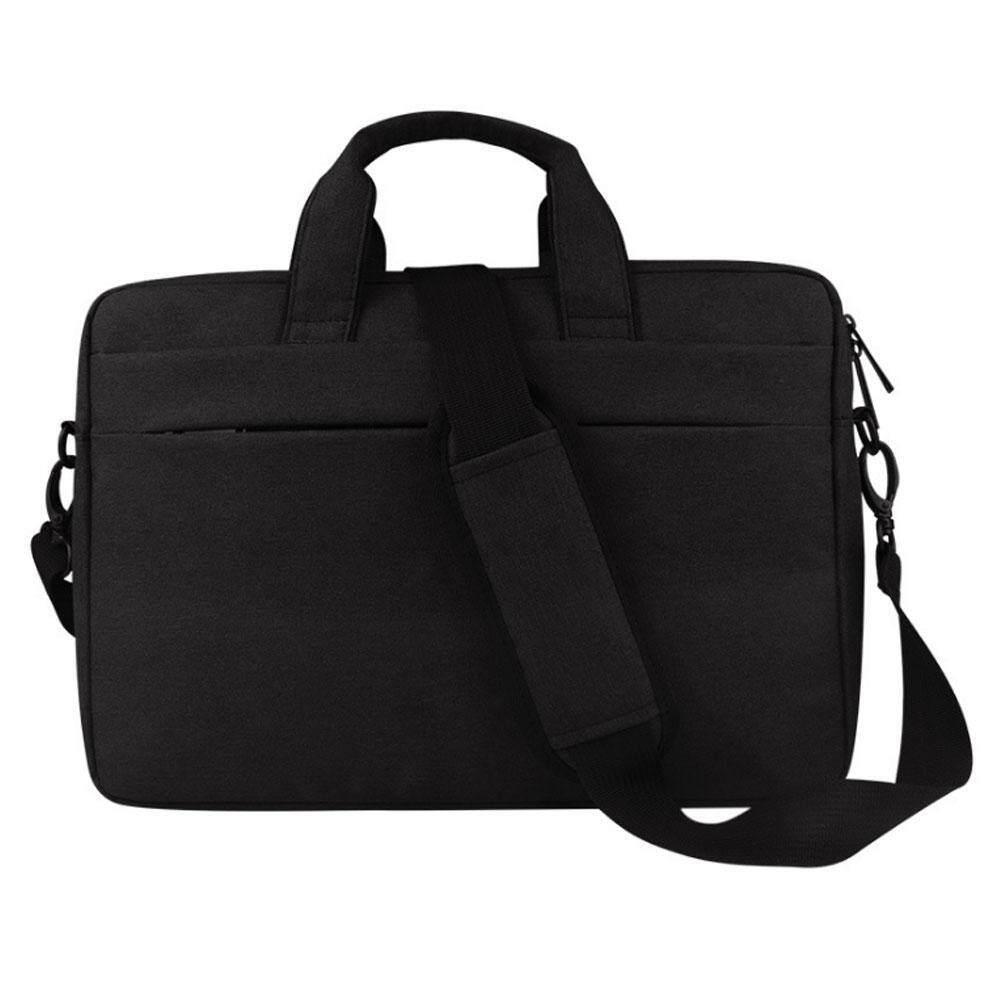 Multi-Saku Laptop Tas Bahu untuk 13.3-15.6 Macbook Inci Pro, Macbook Air, notebook Tas Kerja Berbahan Polister Lengan Case Penutup Tas dengan Sabuk untuk Sarung Troli