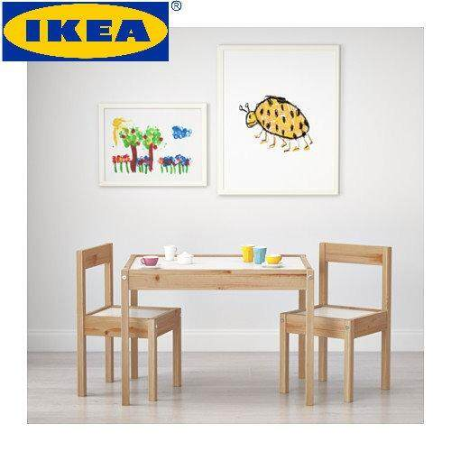 IKEA LÄTT White U0026 Pine Childrens Table With 2 Chairs Malaysia