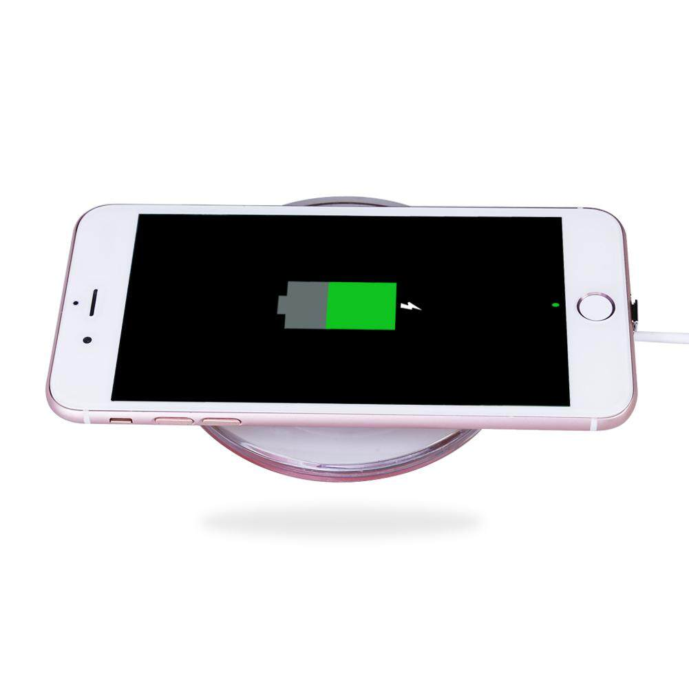Detail Gambar Qi Wireless Charging Pad+Receiver Kit+Adapter for iPhone and Android(Black) Terkini