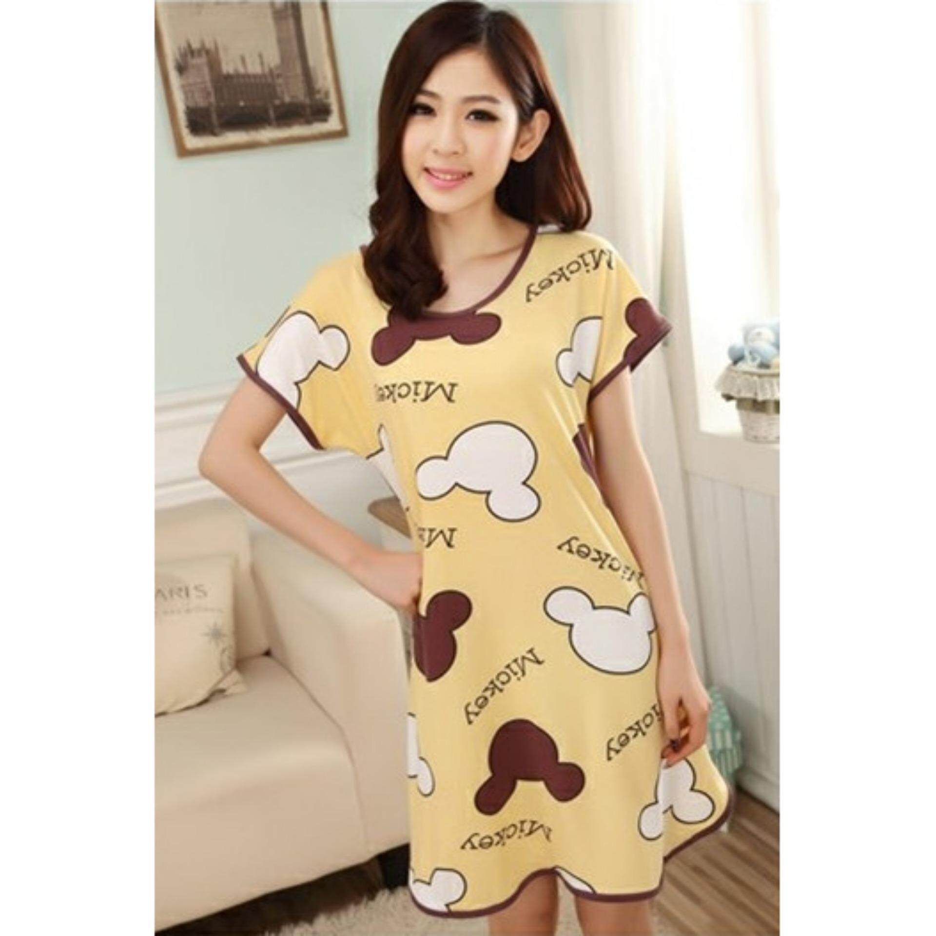 b766a1ed0d16 Cute   Comfy Cartoon Nightwear (Mickey Yellow) - 1pc