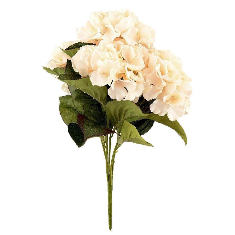 iokioh Artificial Hydrangea Flower 5 Big Heads Bounquet Home Party Wedding Decor(Green) - intl