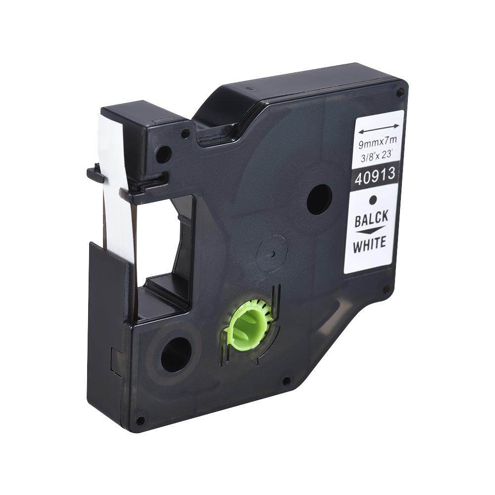 Label Tape Black On White Laminated Tape Compatible For Dymo Label Printer 9mm * 7m By New Plus.