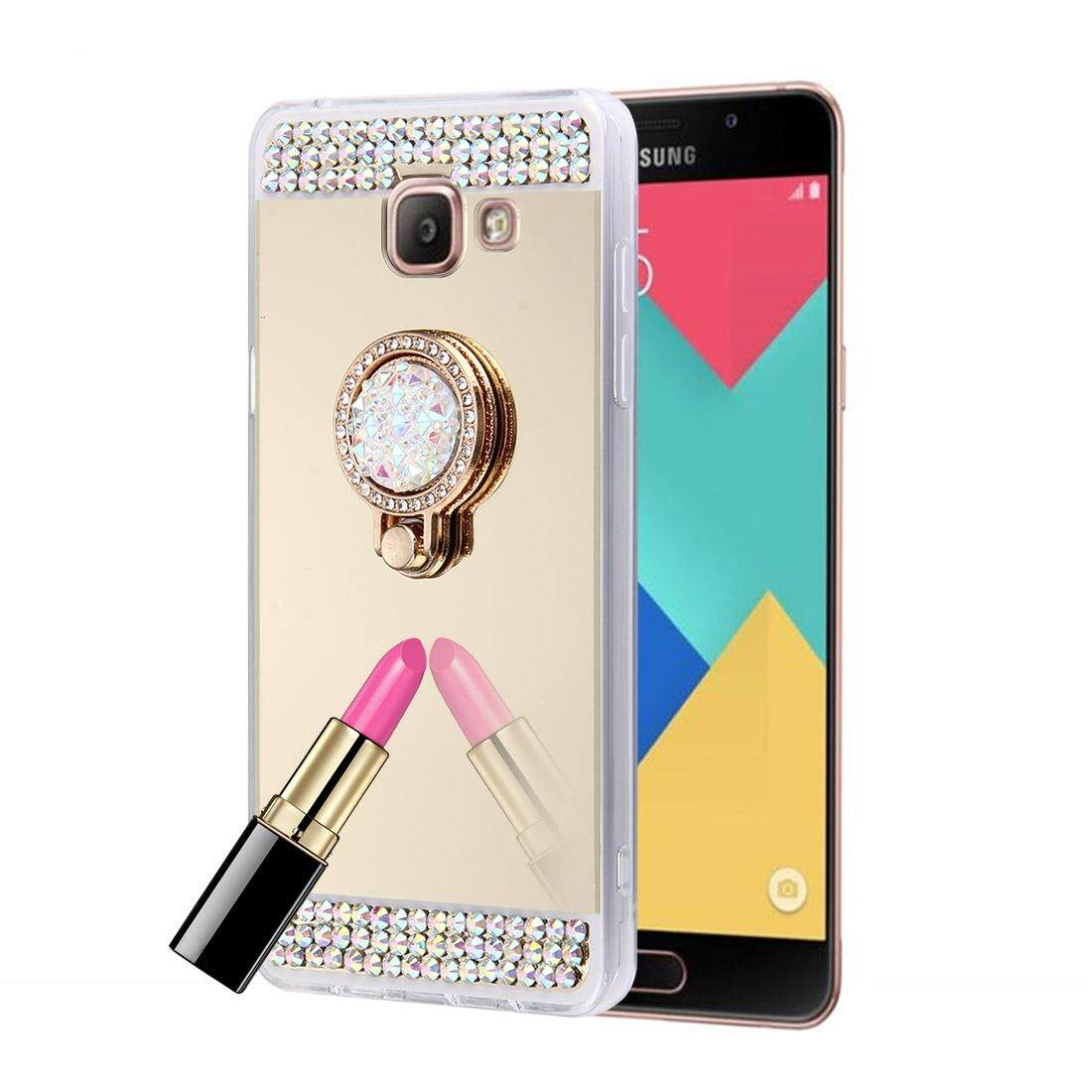 Cek Harga Baru For Samsung Galaxy A5 2016 A510 Diamond Encrusted Original Clear Cover Casing Electroplating Mirror Protective Case