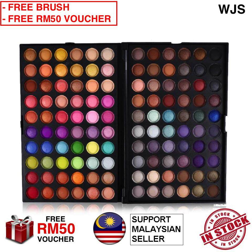 (FREE BRUSH) WJS HALAL 120 Colors Matte Professional Fashion Eyeshadow Palette Kit Eye Shadow Makeup Set 120 Eye Shadow with BRUSH (FREE RM50 VOUCHER)