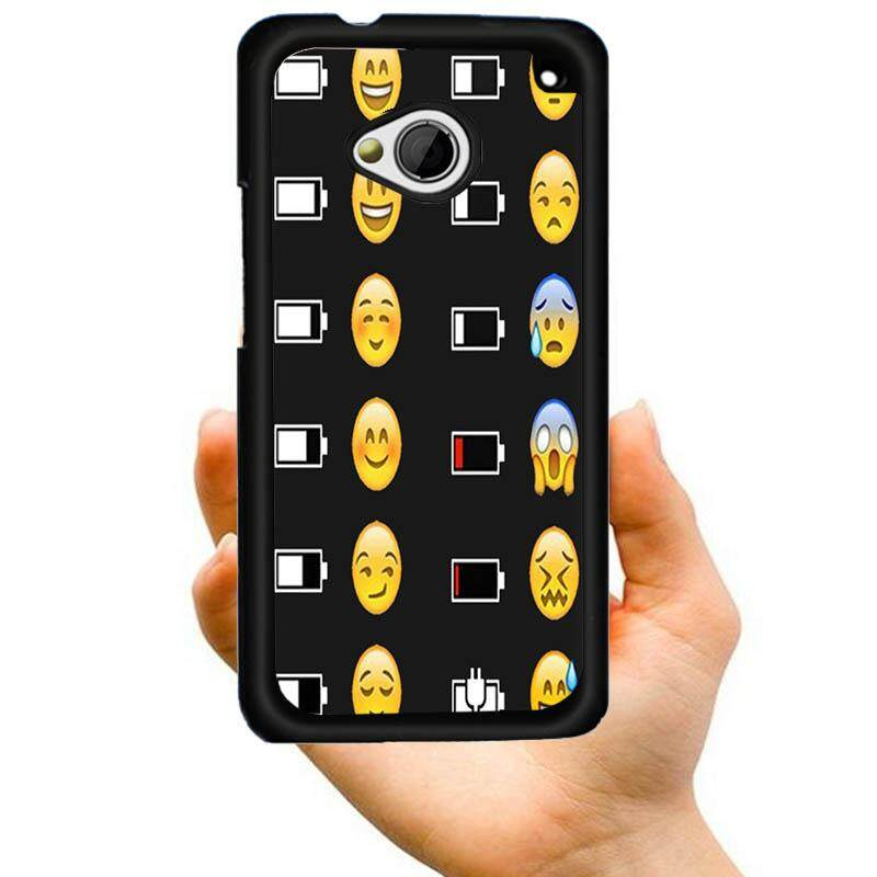 New Arrival Cool Cartoon Gifts different status emoji Creative Pattern Printed PC Hard Plastic Phone Case For HTC Desire 816 - intl