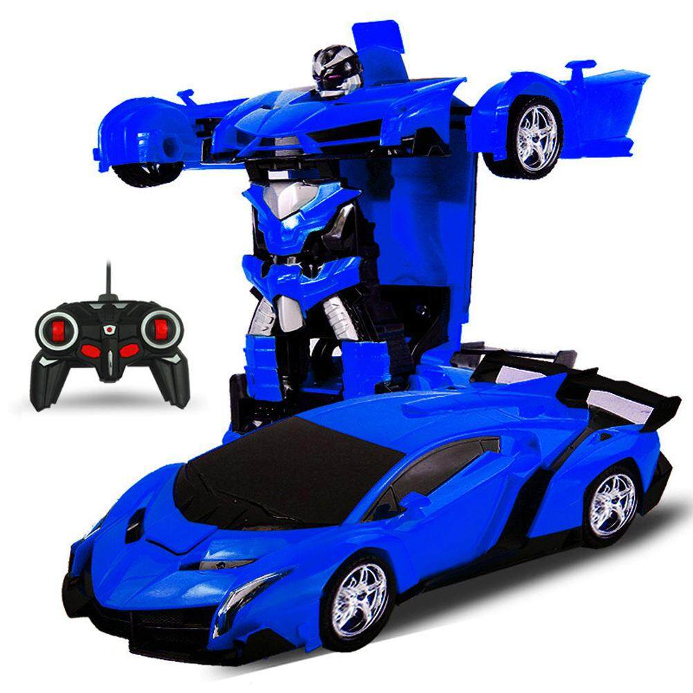 Saideng One Key Deformation Robot Toy Transformation Electric Car Model With Remote Controller Style 1 18 Intl Saideng Cheap On China