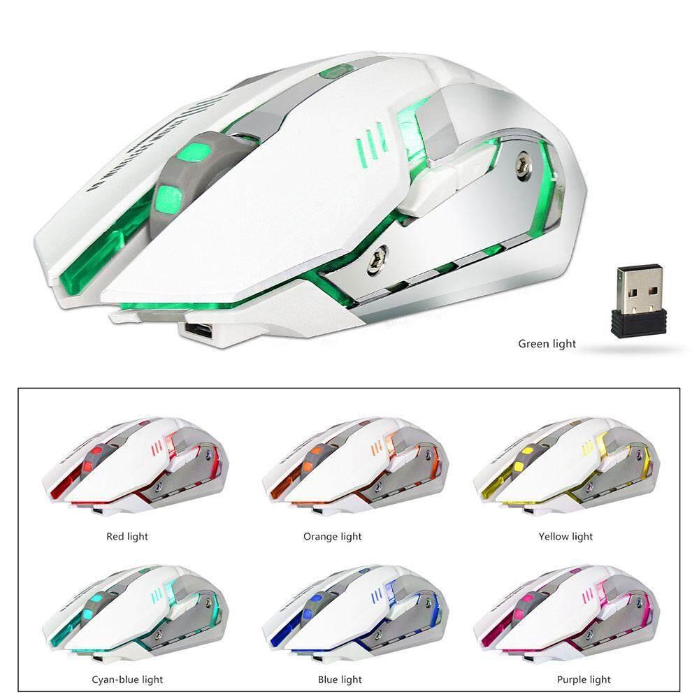 Liangun 2.4G Mouse Gaming 2400 Dpi Berkabel Tombol Dapat Diprogram Mouse Optik dengan Bernapas Penuh Warna LED Backlight untuk Gamer PC, Laptop, notebook, Komputer, Macbook