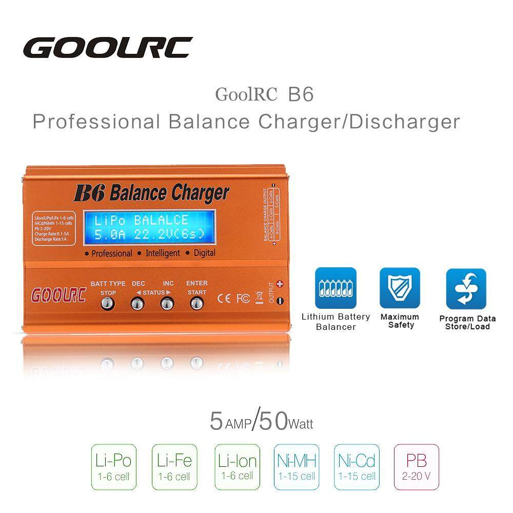 Features Original Goolrc B6 Mini Multi Functional Balance Charger Imax 80w Digital Rc Lipo Nimh Battery And Detail Gambar Discharger With Ac Dc Adapter For Li Ion Life Nicd Pb Terbaru