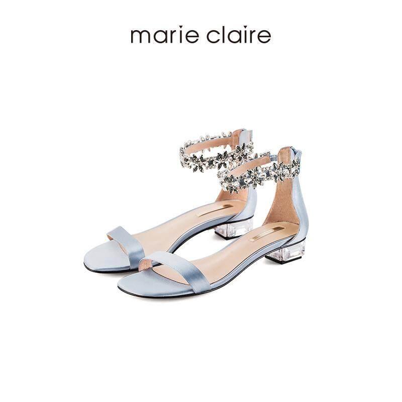 Marie Claire2018 Crystal Zip Kembali Sandal-Intl