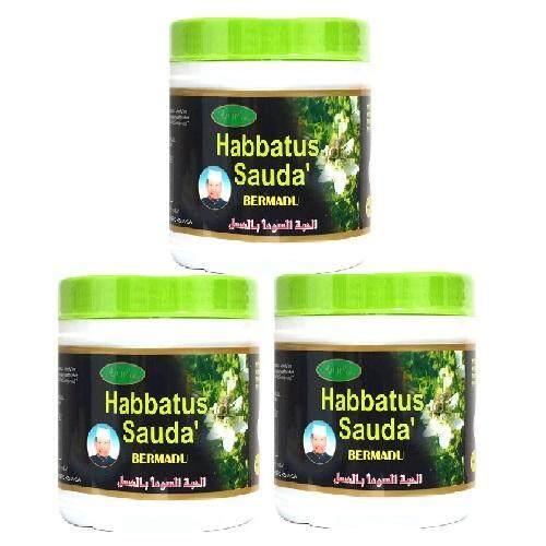 3 x Al Wafi Habbatus Sauda Bermadu 200g