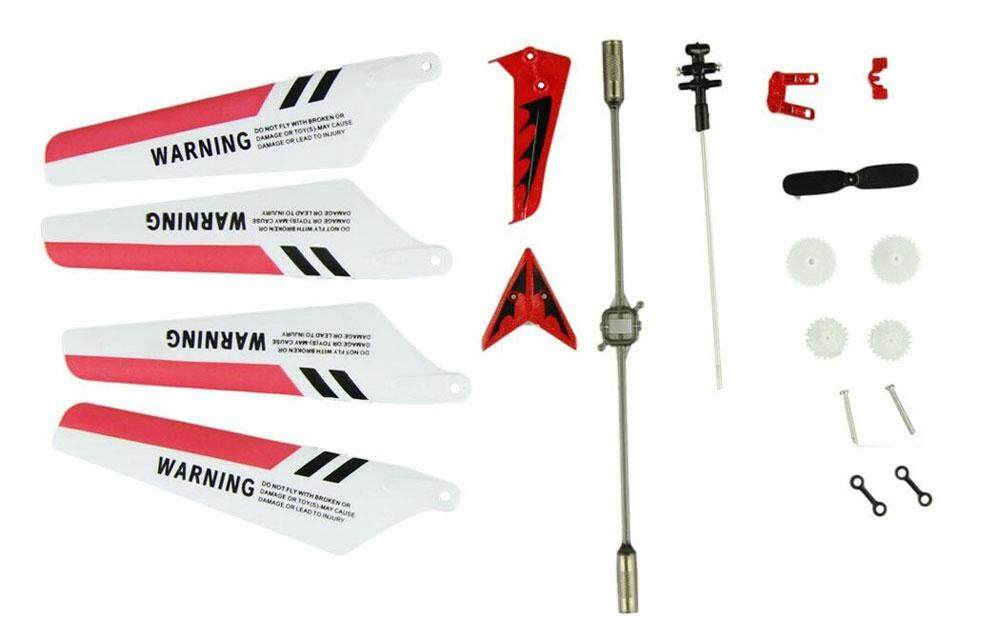 woppk Wheel Gear Set Wings Tail Props Balance Bar Full Replacement Parts Set for Syma S107