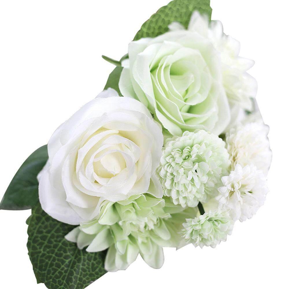 Gasfun Buatan Dihasilkan Bunga, Pawaca Mawar Buatan, Dahlia, melaleuca Hampir Alam Aksesoris untuk Pernikahan Dekorasi Rumah (8 Pcs)-Internasional
