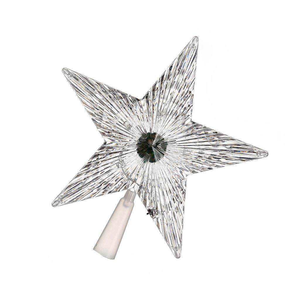 mingrui LED Five-Pointed Stars Lights Christmas Tree Topper Decoration Colorful - intl Singapore