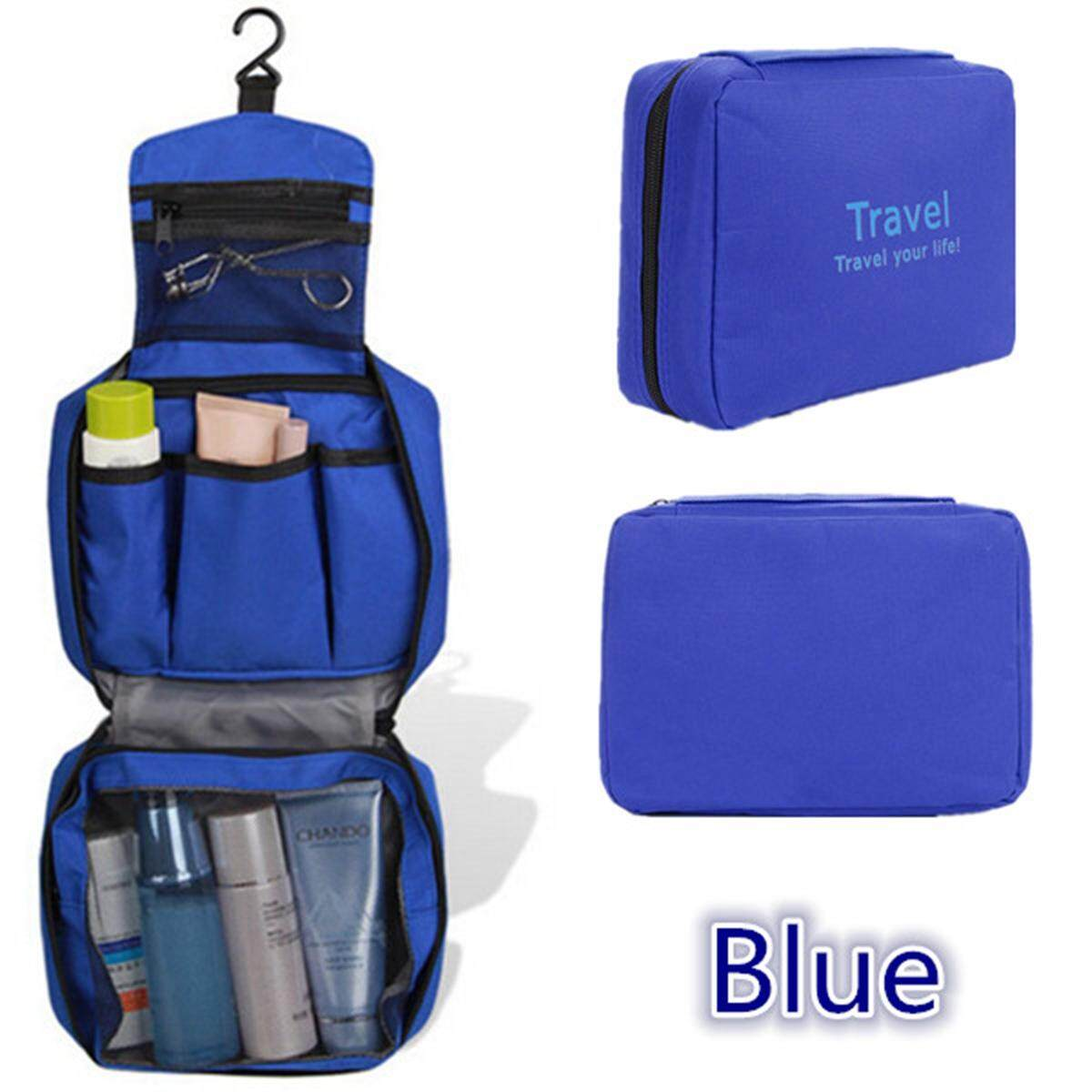 Folding Travel Storage Toiletry Wash Organizer Pouch Cosmetic Makeup Bag Hanging By Glimmer.