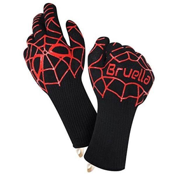Bruella™ Panas Tahan Sarung Tangan ✪ Bagus untuk Oven Panggang & Memasak Di Dapur Sebuah + Kelas Militer Kevlar -Tambahan Panjang Forearm Perlindungan-✱lifetime Warranty✱-Internasional
