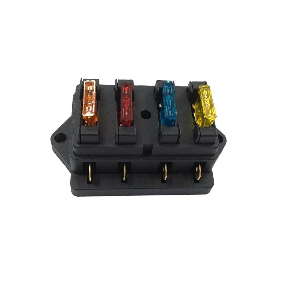 Features Automotive Car Fuse Blade Type Tester Checker Puller Box Removal 4 Way Holder Vehicle Circuit Block With Standard Fuses