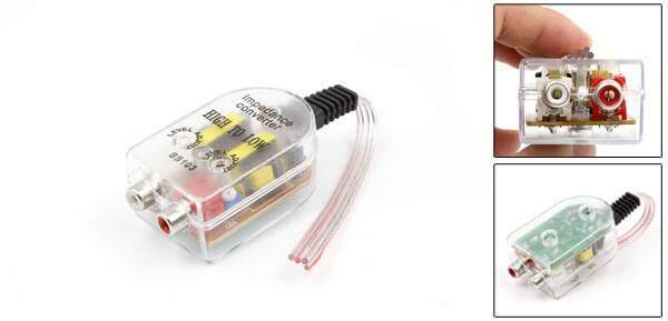 Auto Mobil Tinggi Ke Rendah Konverter Impedansi Adaptor Speaker untuk Kabel RCA
