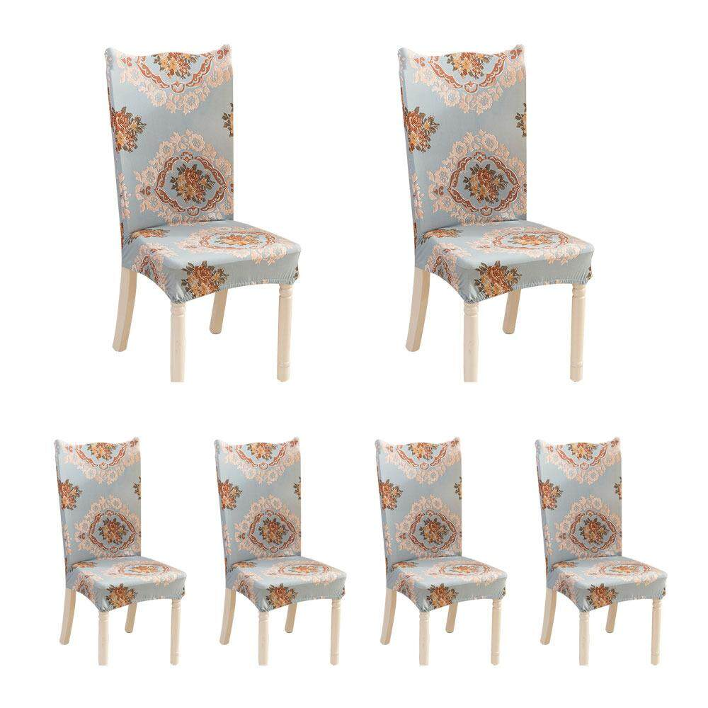 Treeone 6Pcs Home Piece Office Hotel Back Cover Chair Sets Elastic Chair Cover