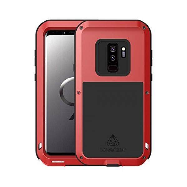Samsung Galaxy S9 Plus Case,Bpowe Super Shockproof Silicone Aluminum Metal Armor Tank Heavy Duty sturdy Protector Cover Hard Case for Samsung Galaxy S9 Plus 6.2inch - intl