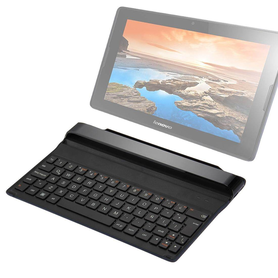 Hình ảnh Lenovo Tab A10 BKC510 Ultra-slim Bluetooth Wireless Keyboard Cover, Spanish Version(Black)