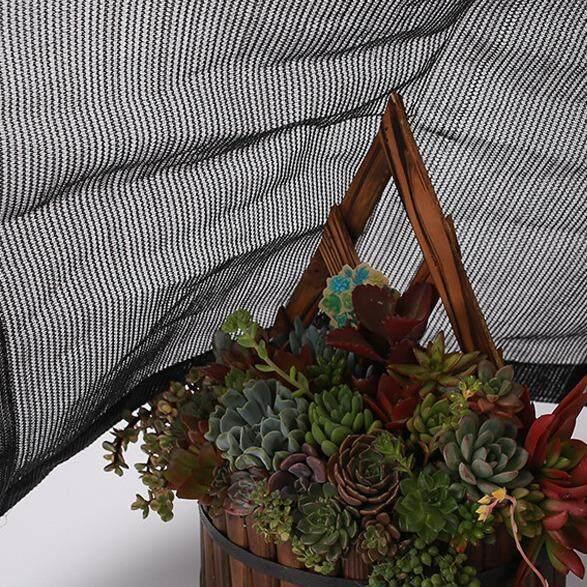 Sun Shade Sail Outdoor 70% UV Block Awning Canopy Mesh Net Shade Cloth Black 1x2m - intl