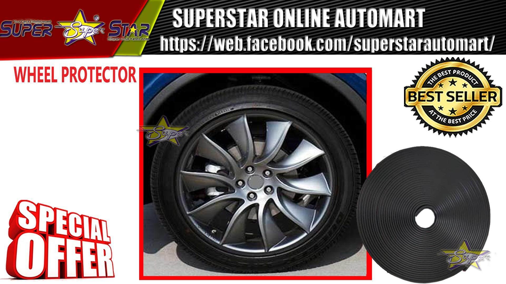 Car Wheel Rim Protectors Auto / Rings / ( BLACK )