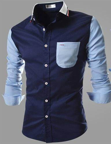 Men Long Sleeve Man Elegance Colar Branded Men Top Long Sleeve Shirt Baju Kemeja Lelaki Lengan Panjang Ready Stock Readystok