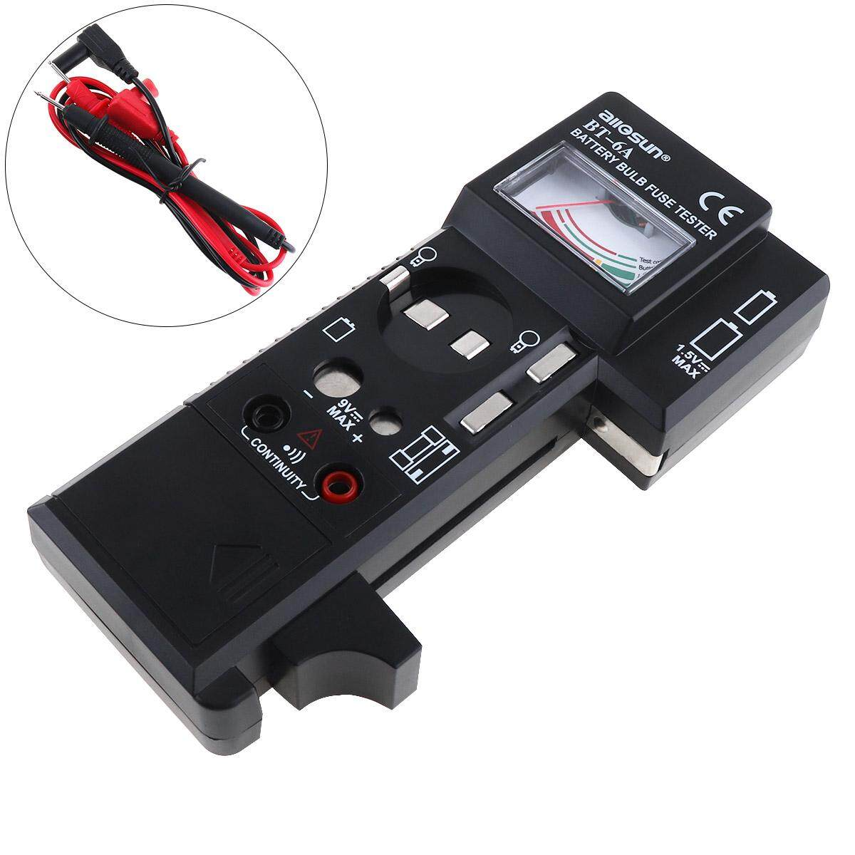 Portable BT6A 3 IN 1 Digital High Precision Multi-purpose Battery Bulb Fuse Tester with One Pair Test Pen for Battery / Light Bulb / Fuse