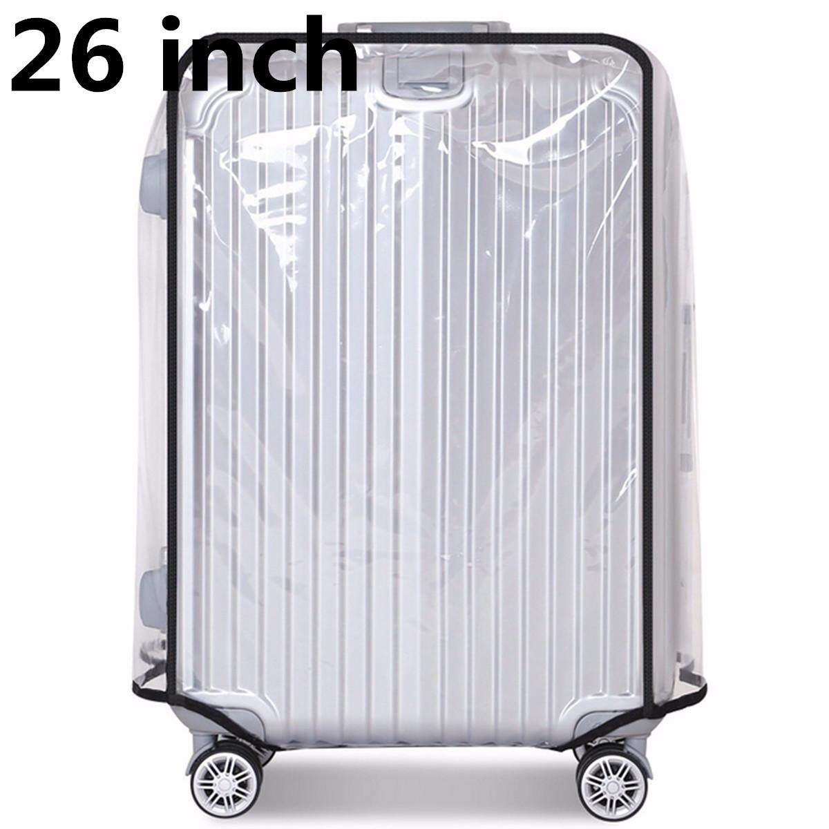 26 inch PVC Transparent Travel Luggage Protector Suitcase Cover Usable Waterproof fashionable #26inch