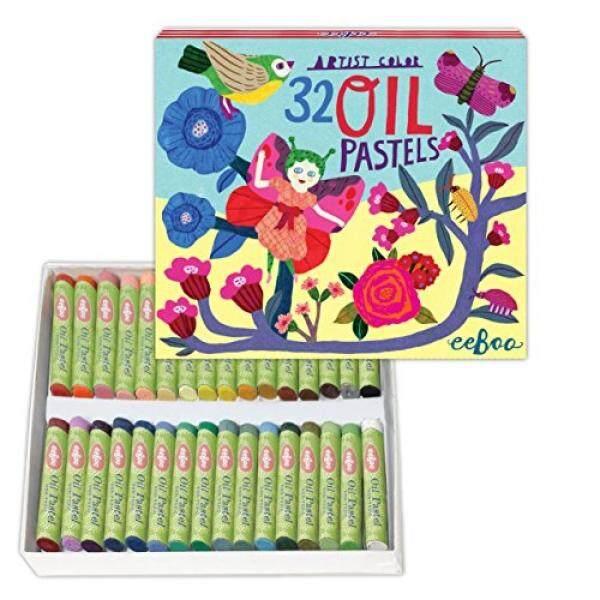 Eeboo Minyak Pastels untuk Anak-anak, Kupu-kupu Peri, Set 32-Internasional