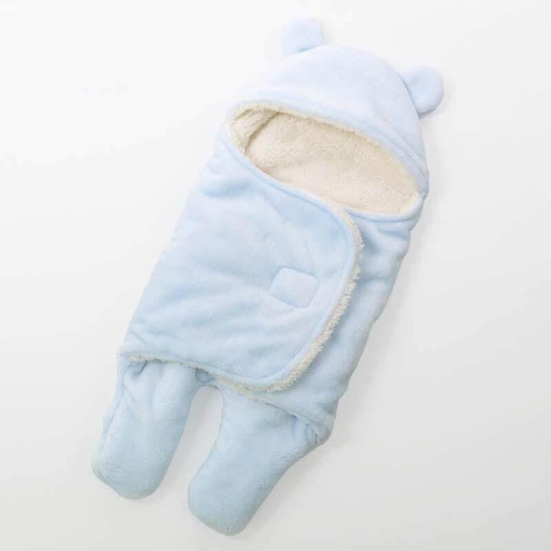 Bayi Sleeping Tas Tebal Flanel Bulu Balita Bayi Swaddle Pembungkus Selimut Amplop Sleepsack Musim Gugur dan Dingin-65*75