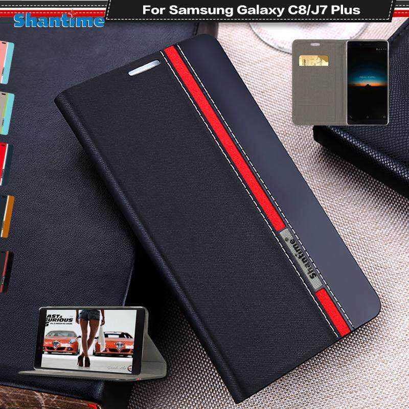 Cek Harga Luxury Phone Book Case For Samsung Galaxy C9 Pro Flip