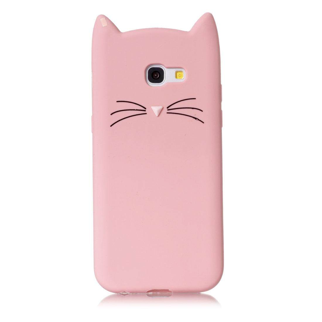 Detail Gambar For Samsung Galaxy A5 (2017) Silicone Cat Whiskers Pattern Protective Back Cover