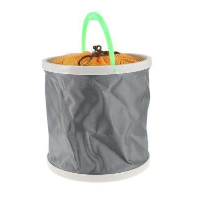 Portable Canvas Folding Bucket for Outdoor Fishing Car Washing (COLORMIX)