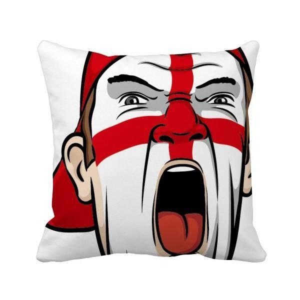 Inggris Bendera Gambar Sarung Bantal Persegi Bantalan Sisipan Penutup Dekorasi Sofa Rumahan Hadiah-Intl