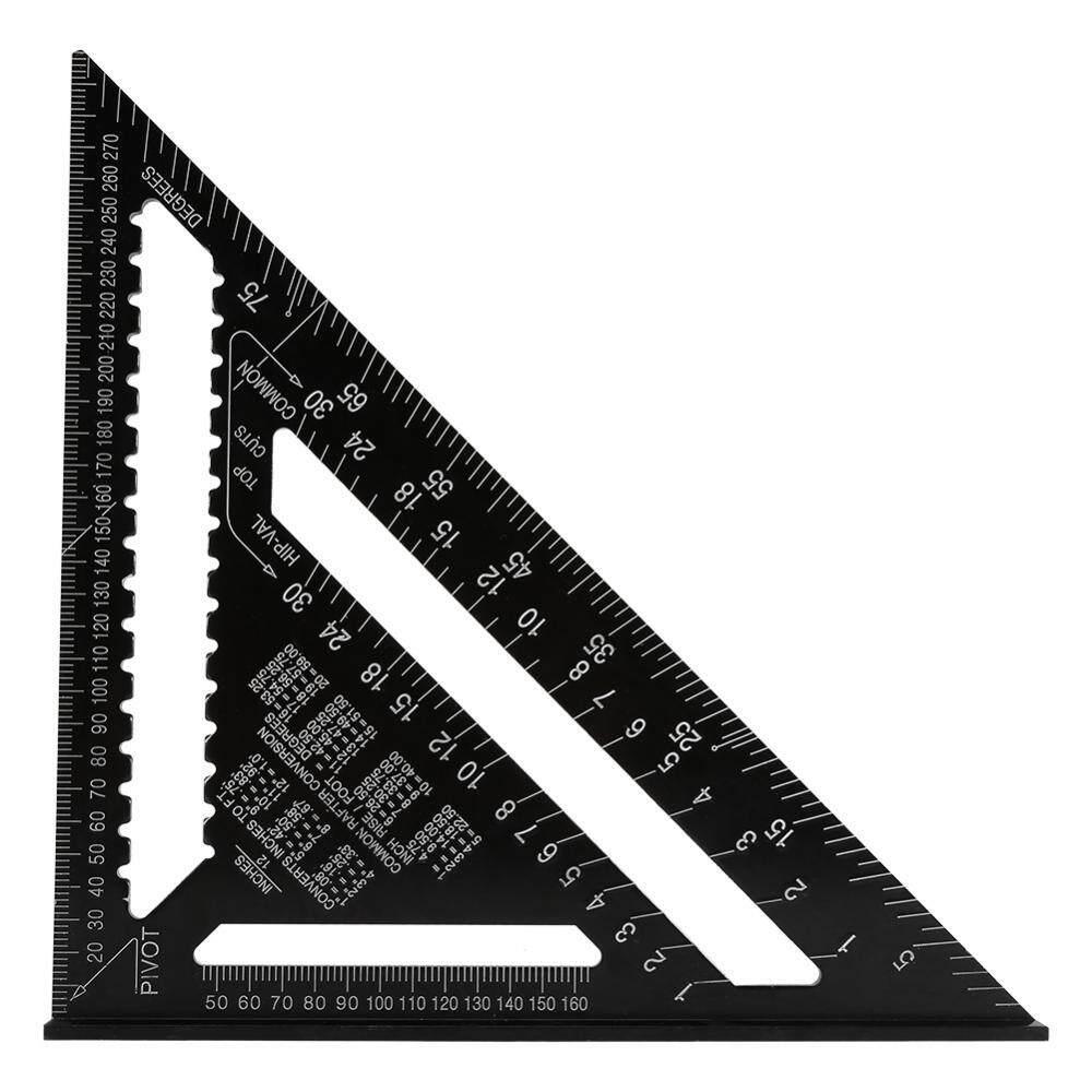 Mua 12 inch Nhôm Hợp Kim Hình Tam Giác Vuông Thước Chính Xác Kỹ Sư Thợ Mộc Đo Công Cụ-quốc tế