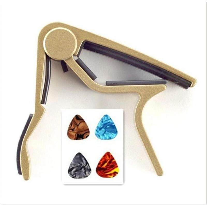 Zoo on Yoo Single-handed Guitar Capo Quick Change(Black,Blue,Red,Gold,Silver) with free four guitar picks Malaysia