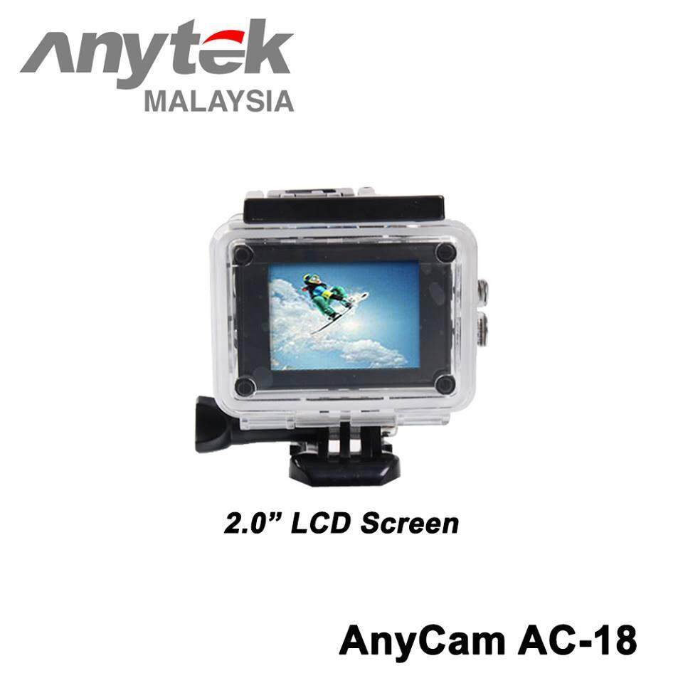 ANYTEK 4K AnyCam Car DVR AC-18 3-in-1 Full HD Action Camera, Camera and DVR Function + 2 Free Gift (White)