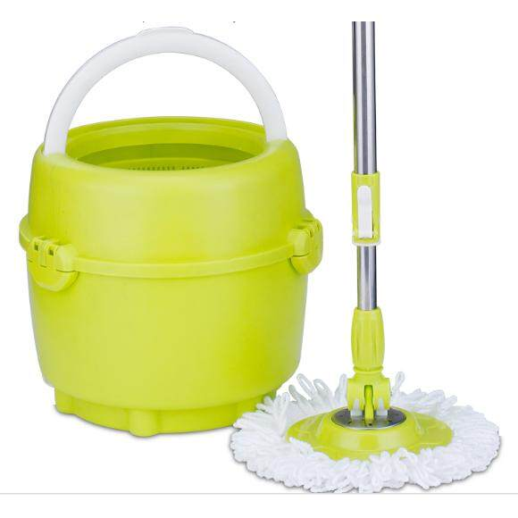 [Fast Delivery]Apple Spin Mop Stainless Steel Basket Easy Home Cleaning Mop Microfiber Cloth Spin Mop [Ready Stock]