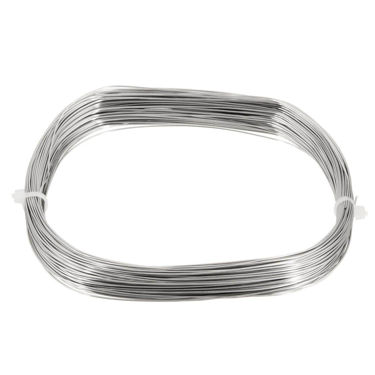 304 Stainless Steel Bright Single Wire Rope 0.6mm Dia 1/4 100ft 30M/1181.1